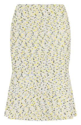 Твидовая мини-юбка с оборкой | Фото №1