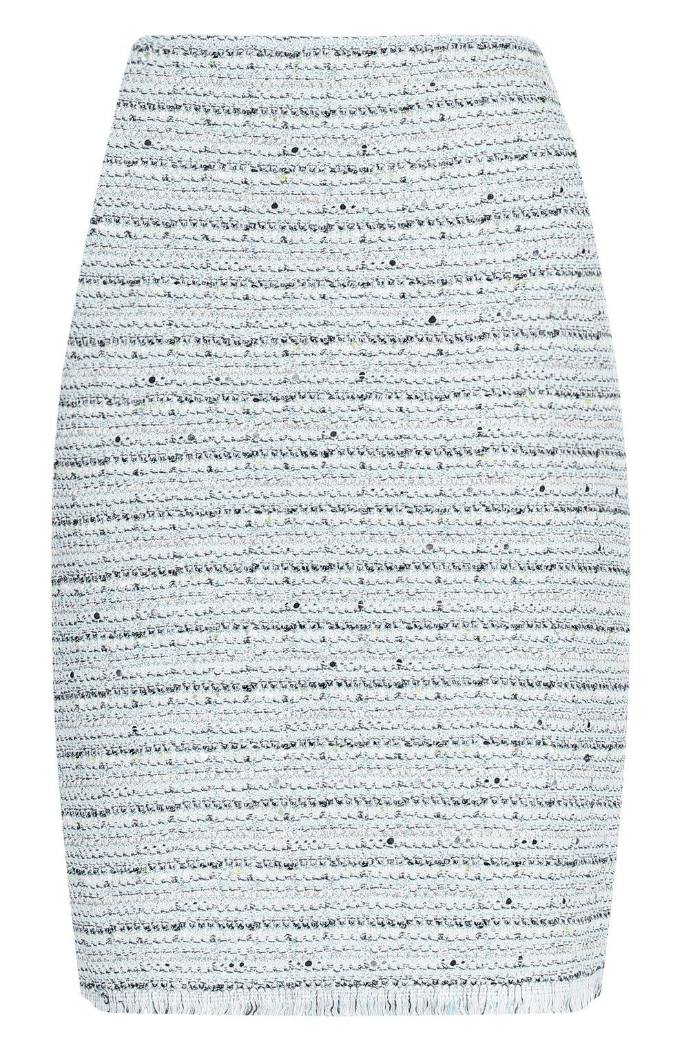 Твидовая мини-юбка с бахромой | Фото №1