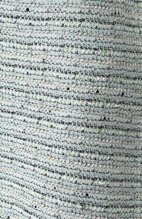 Твидовая мини-юбка с бахромой St. John светло-зеленая | Фото №5