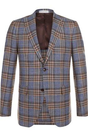 Однобортный пиджак из смеси шерсти и шелка   Фото №1