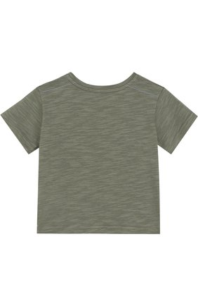 Детский хлопковая футболка с принтом TARTINE ET CHOCOLAT хаки цвета, арт. TL10051/1M-18M   Фото 2