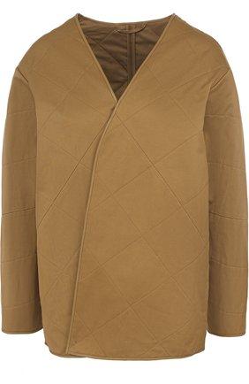 Стеганая хлопковая куртка свободного кроя | Фото №1