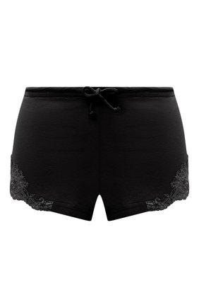 Женские хлопковые шорты LA PERLA черного цвета, арт. 0021056 | Фото 1