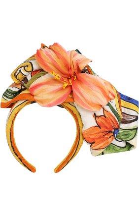 Ободок с декоративным цветком | Фото №1