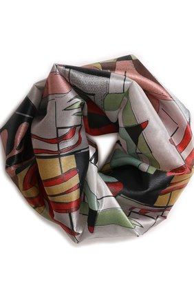 Шелковый шарф-снуд | Фото №1