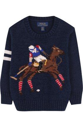 Хлопковый пуловер с принтом | Фото №1