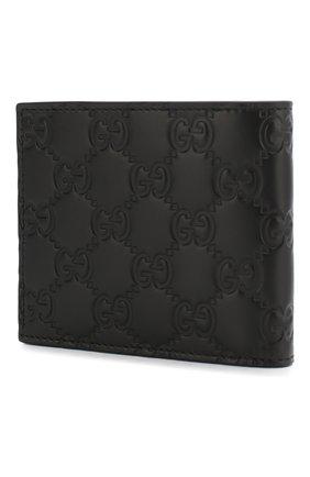 Мужской кожаное портмоне signature GUCCI черного цвета, арт. 473916/CWC1N | Фото 2