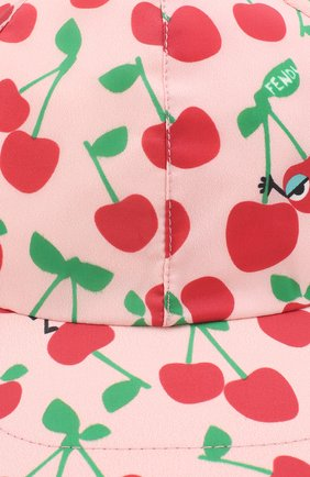 Детская бейсболка с принтом FENDI розового цвета, арт. JFP064/A1ET | Фото 3