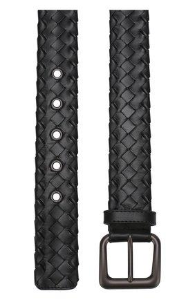 Мужской кожаный ремень с плетением intrecciato BOTTEGA VENETA черного цвета, арт. 288187/VQ124 | Фото 2