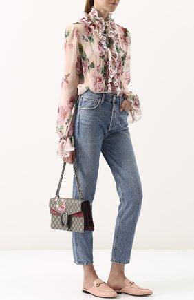 Женские кожаные сабо princetown GUCCI розового цвета, арт. 423513/C9D00 | Фото 2