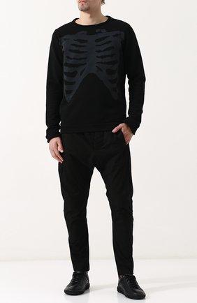 Хлопковый джемпер с принтом MD 75 черный | Фото №1