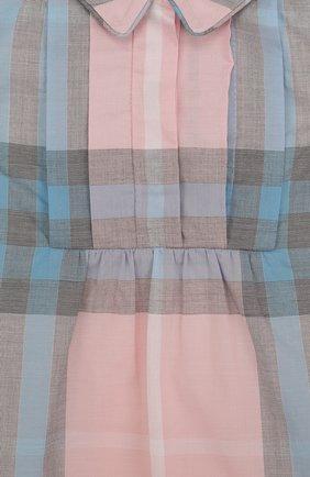 Женский хлопковое мини-платье с принтом BURBERRY разноцветного цвета, арт. 4066822   Фото 3