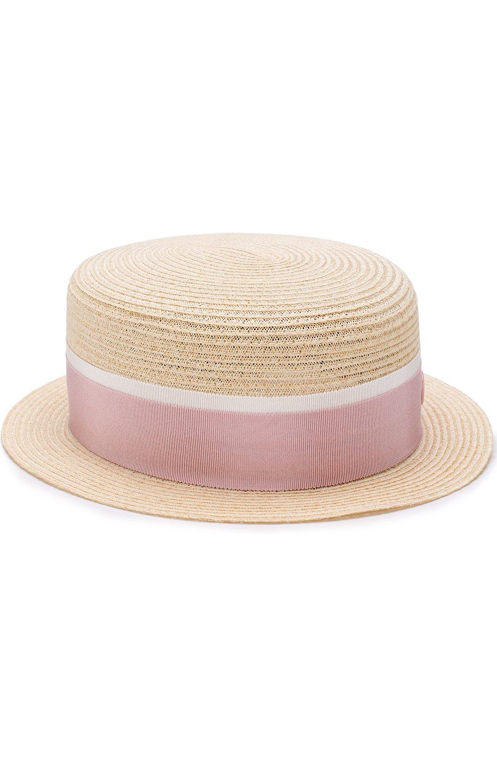 Соломенная шляпа Auguste с лентой | Фото №1