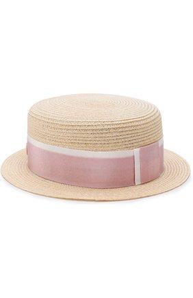 Женская соломенная шляпа auguste с лентой MAISON MICHEL бежевого цвета, арт. 1011021003/AUGUSTE   Фото 2