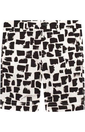 Хлопковые шорты с принтом | Фото №1