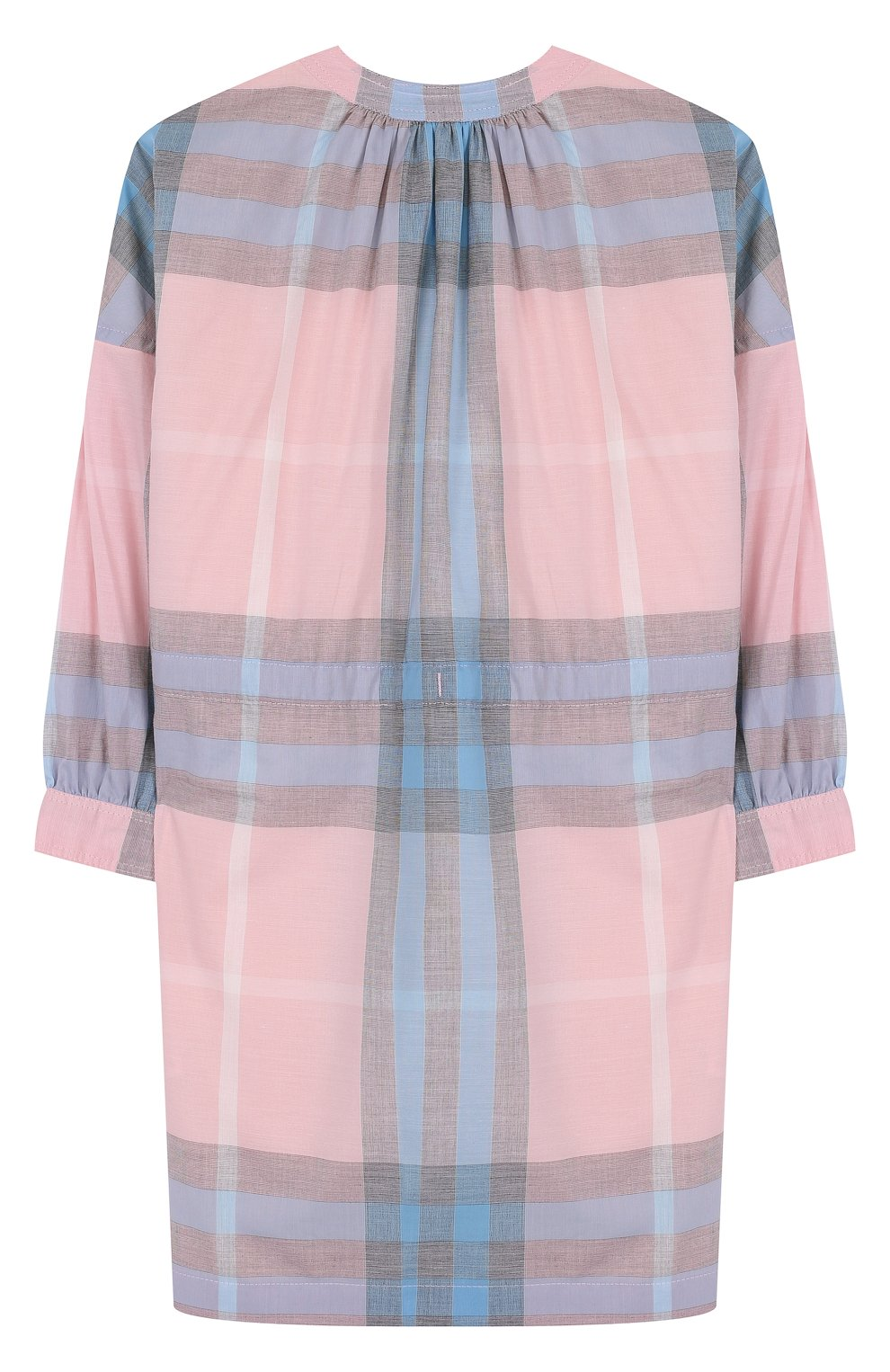 Женский хлопковое мини-платье с принтом на кулиске BURBERRY разноцветного цвета, арт. 4066846 | Фото 2