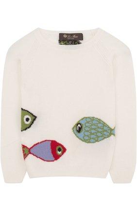 Кашемировый пуловер с принтом | Фото №1