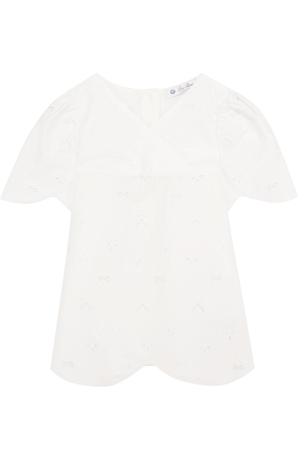 Блуза свободного кроя из смеси хлопка и шелка | Фото №1
