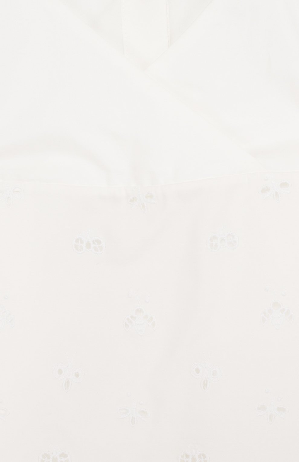 Блуза свободного кроя из смеси хлопка и шелка | Фото №3