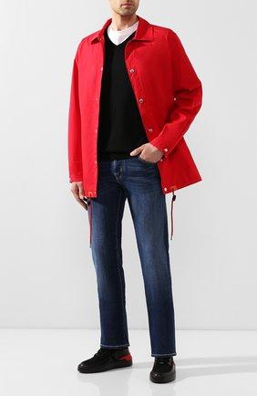 Мужской шерстяной пуловер BOSS черного цвета, арт. 50378576 | Фото 2