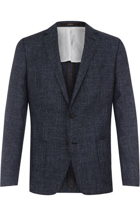 Однобортный пиджак из смеси шерсти и хлопка со льном | Фото №1