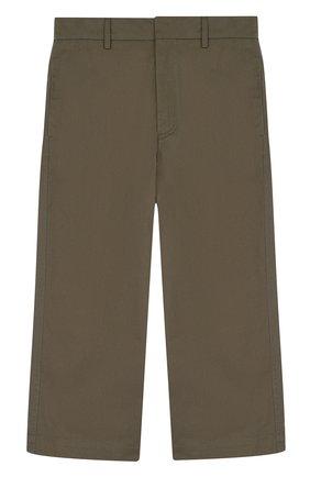 Укороченные брюки из хлопка прямого кроя | Фото №1