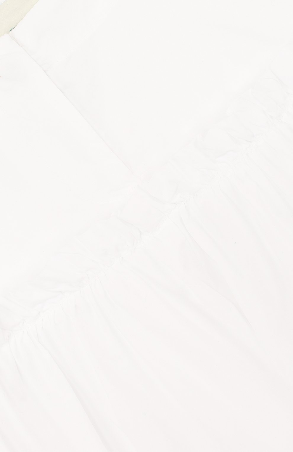 Детские хлопковые кюлоты с оборкой FENDI белого цвета, арт. JFF093/SUM/10A-12A | Фото 3