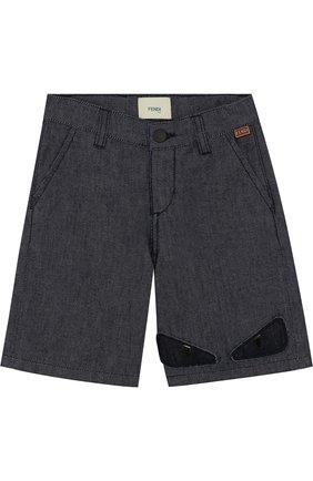 Джинсовые шорты с аппликацией | Фото №1