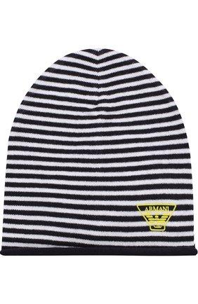 Хлопковая шапка в полоску   Фото №1