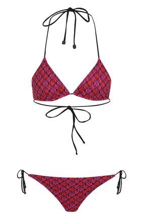 Раздельный купальник с треугольным бра Missoni малиновый | Фото №1
