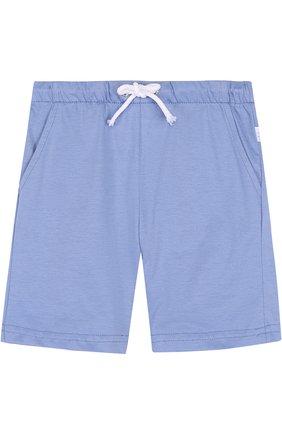 Хлопковые шорты с поясом на кулиске | Фото №1