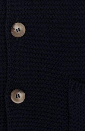 Детский хлопковый кардиган на пуговицах с капюшоном IL GUFO темно-синего цвета, арт. P18GF250EM600/2A-4A   Фото 3