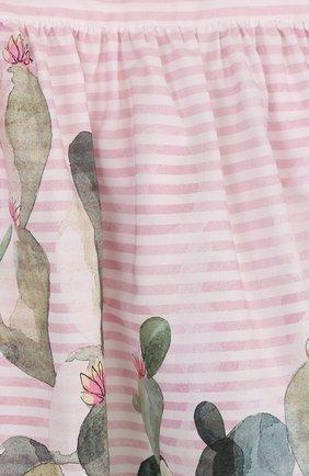 Женский хлопковое платье свободного кроя с принтом IL GUFO розового цвета, арт. P18VM431C4035/3M-9M   Фото 3