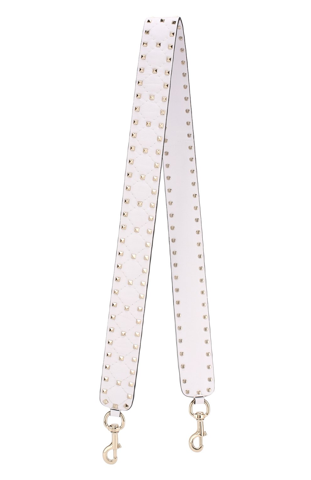 Женские кожаный ремень для сумки valentino garavani rockstud spike VALENTINO белого цвета, арт. PW0P0P37/NAP | Фото 1