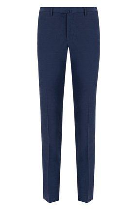 Однотонные хлопковые брюки со стрелками | Фото №1