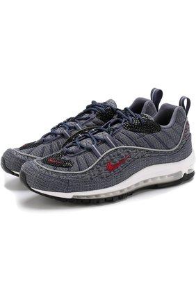 Текстильные кроссовки Air Max 98 QS NikeLab синие   Фото №1