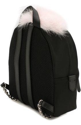Женский рюкзак из текстиля с аппликациями bag bugs FENDI черного цвета, арт. 8BZ038 A0Y7 | Фото 3