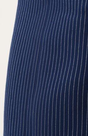 Женская хлопковая юбка-миди в полоску FENDI синего цвета, арт. FQ6734 A3BF | Фото 5