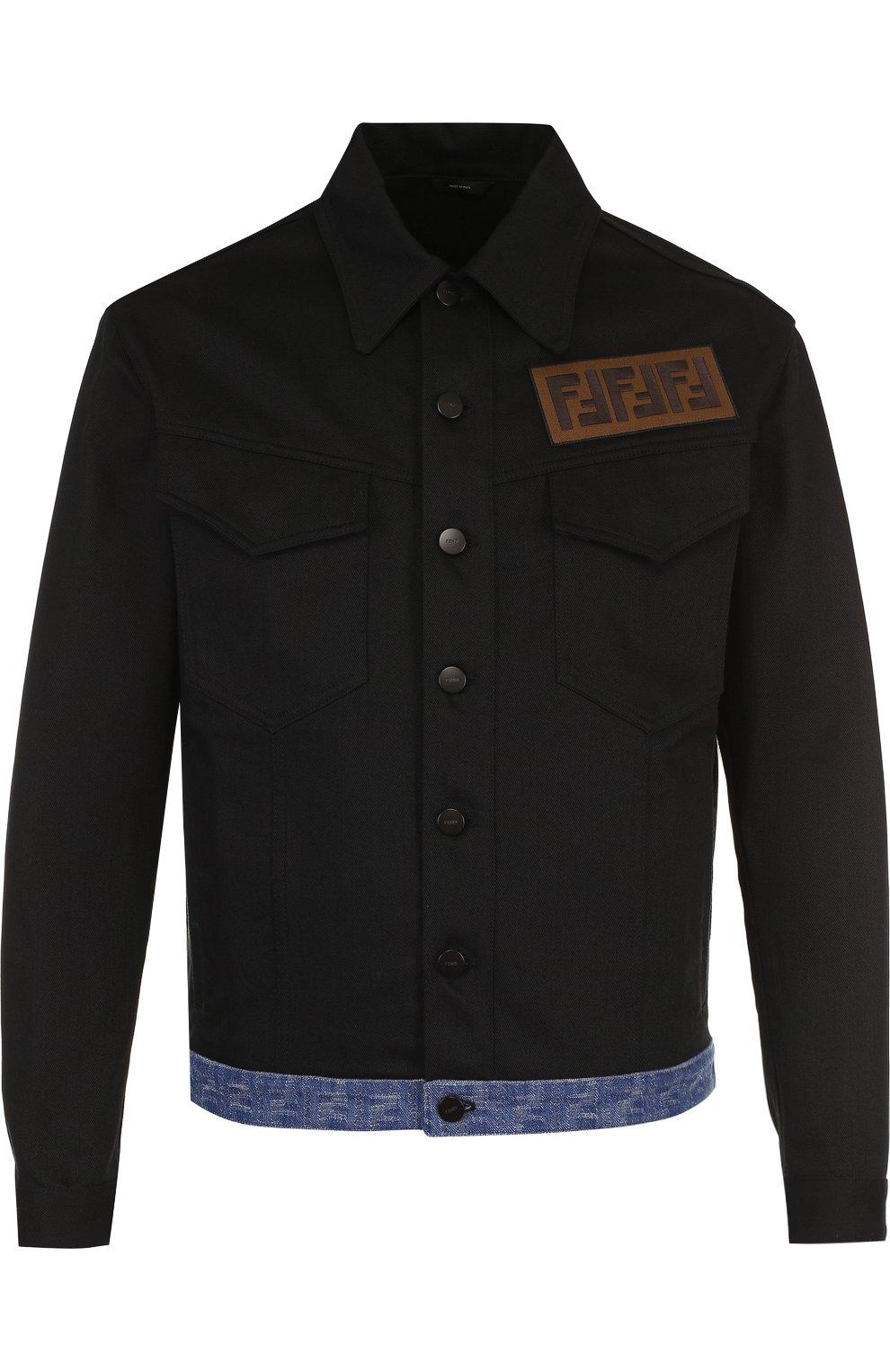 Джинсовая куртка с нашивкой   Фото №1