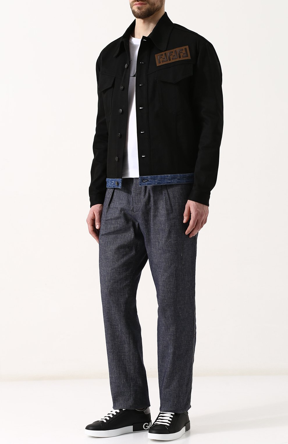 Джинсовая куртка с нашивкой   Фото №2