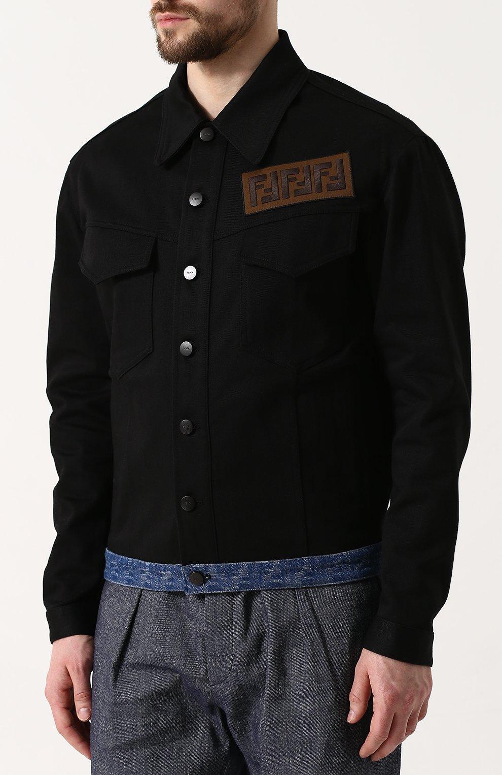 Джинсовая куртка с нашивкой   Фото №3