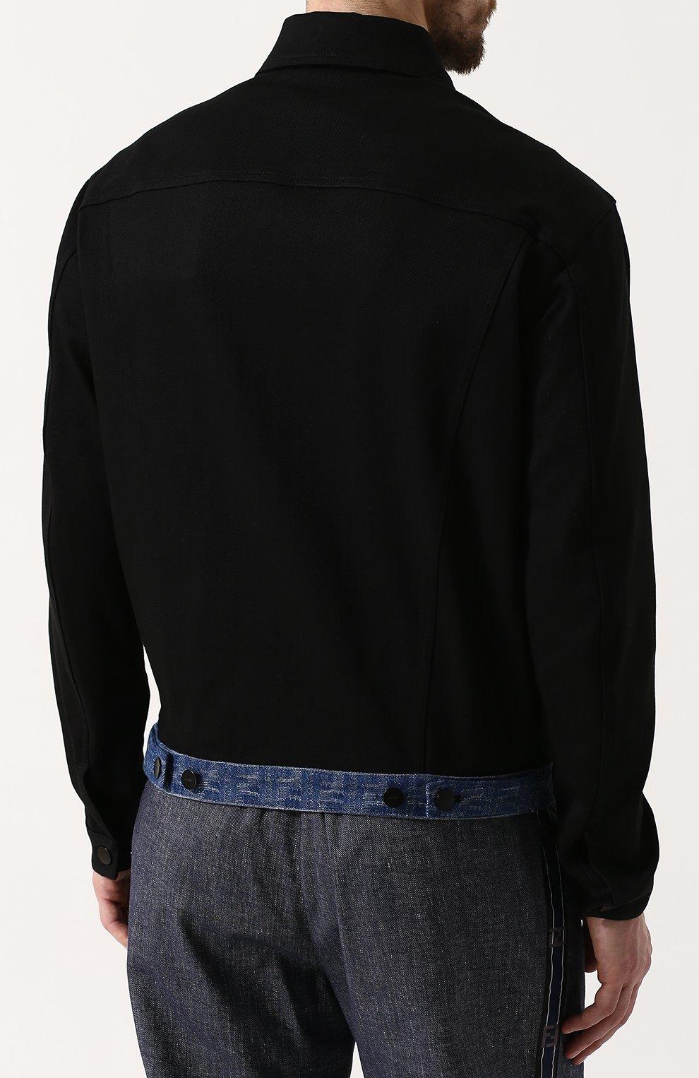Джинсовая куртка с нашивкой   Фото №4