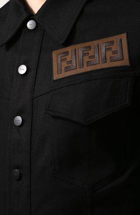 Джинсовая куртка с нашивкой   Фото №5