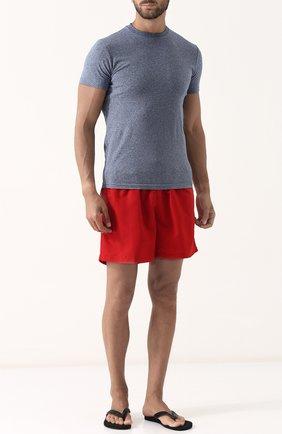 Мужские кожаные шлепанцы с плетением RALPH LAUREN темно-синего цвета, арт. 815697994 | Фото 2