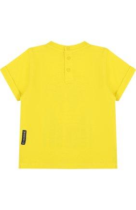 Детский хлопковый комплект из трех футболок с принтом ARMANI JUNIOR желтого цвета, арт. 3ZHD01/4J22Z | Фото 9