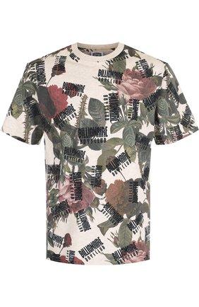 Хлопковая футболка с принтом Billionaire Boys Club разноцветная | Фото №1