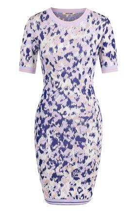 Вязаное платье-футляр с принтом и коротким рукавом | Фото №1