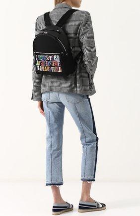 Кожаный рюкзак с текстильной отделкой | Фото №2