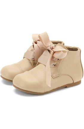 Кожаные ботинки на шнуровке   Фото №1