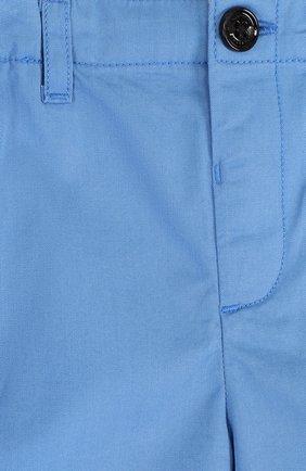 Детские хлопковые шорты с эластичной вставкой на поясе BURBERRY голубого цвета, арт. 4063423 | Фото 3